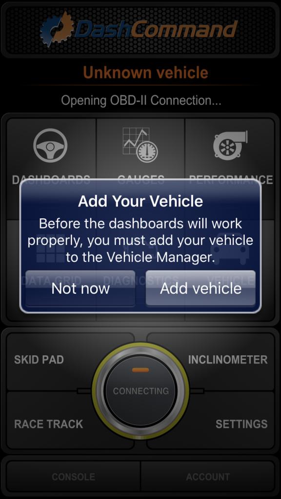 Zuerst legst du ein Fahrzeugprofil an.