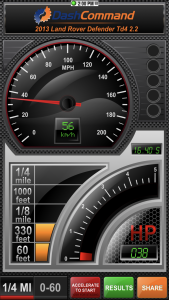 Vgate iCar 3 WiFi OBD-2-Diagnosegerät - Performance-Dashboard für den Renneinsatz.