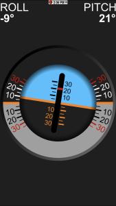 Vgate iCar 3 WiFi OBD-2-Diagnosegerät - Nützliche Neigungswinkelanzeige.