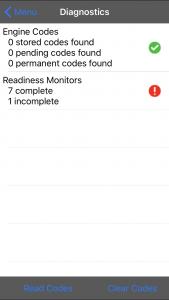 Vgate iCar 3 WiFi OBD-Schnittstelle - Diagnosegerät - Fehlercodes und der Status der Emissionsschutzüberwachung.