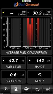 Vgate iCar 3 WiFi OBD2-Diagnosegerät - Dashboard Verbrauch.