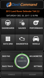 Vgate iCar 3 WiFi OBD-2-Diagnosegerät - Im Hauptmenü, Verbindung hergestellt.
