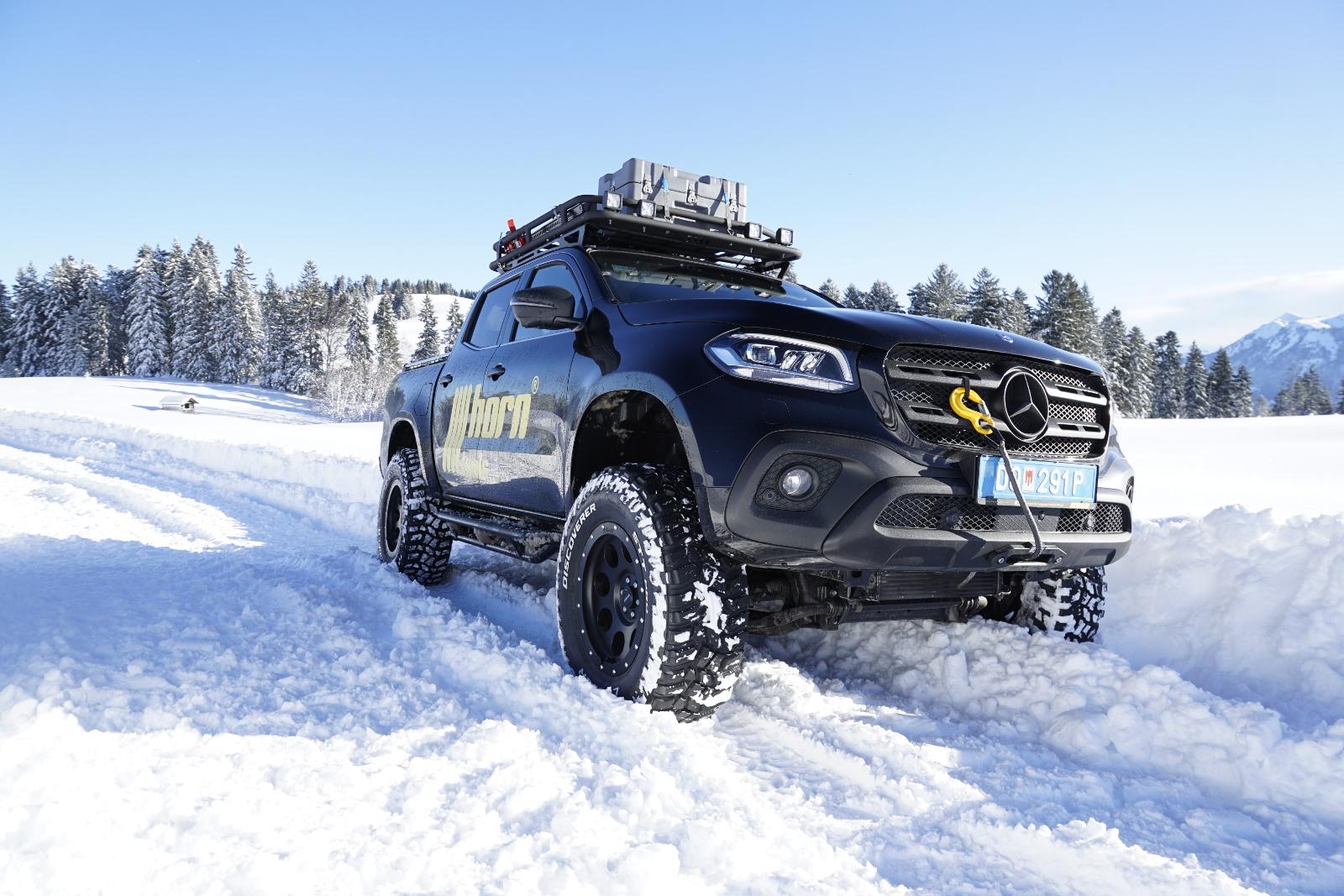 Mercedes X-Klasse Frontwinde - Jeweils ein Typ Winde für Fahrzeuge mit un dohne Bodylift.
