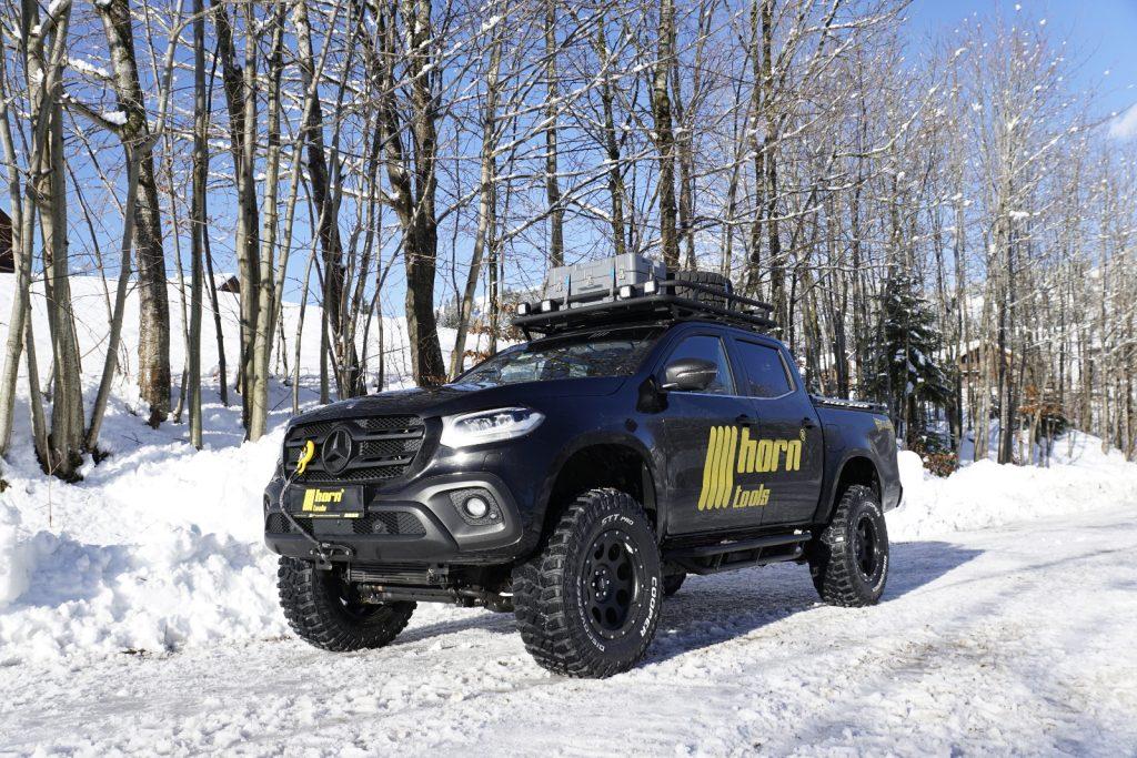 Mercedes X-Klasse-Zubehör von horntools - Dackgepäckträger für Lasten bis 150 kg.