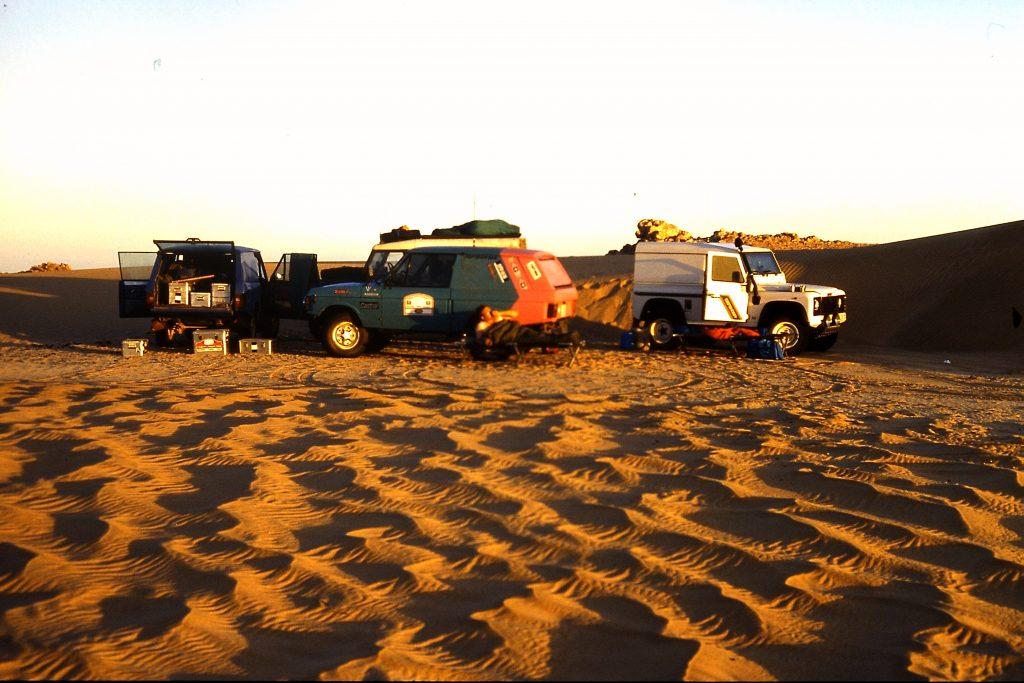© H.C. Maurer - Nachtlager im Grenzgebiet von Mauretanien und Mali.