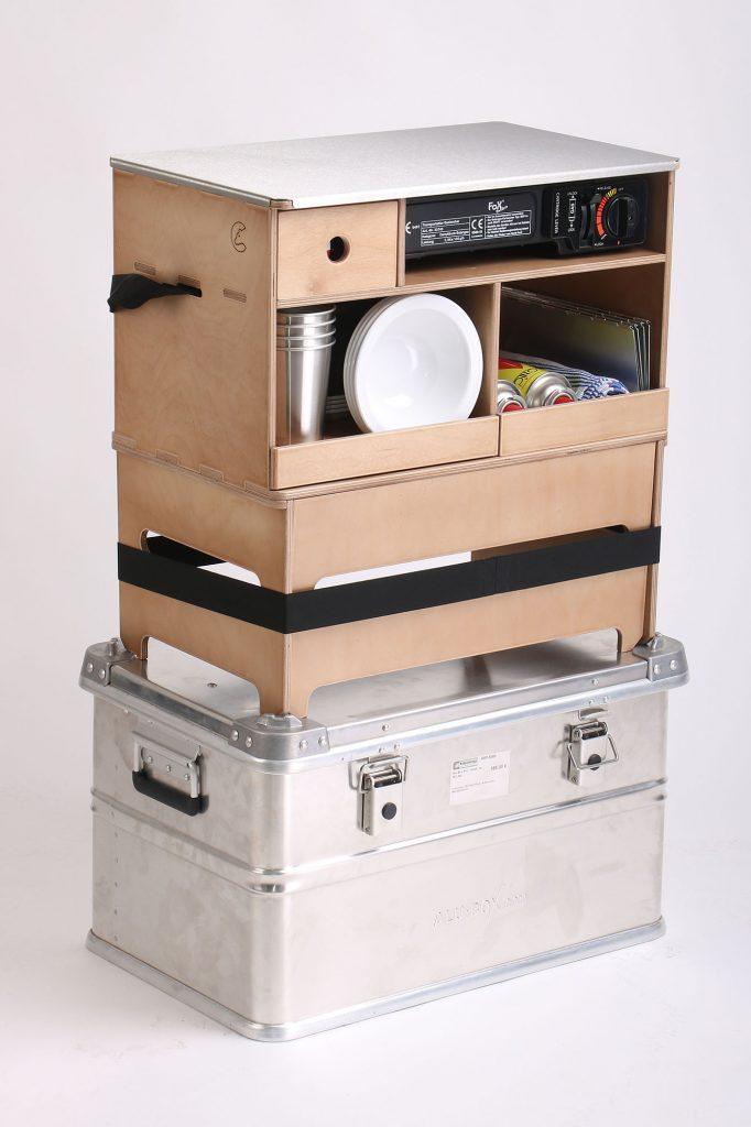 Nakatanenga-Küchenbox mit optionaler Transportkiste