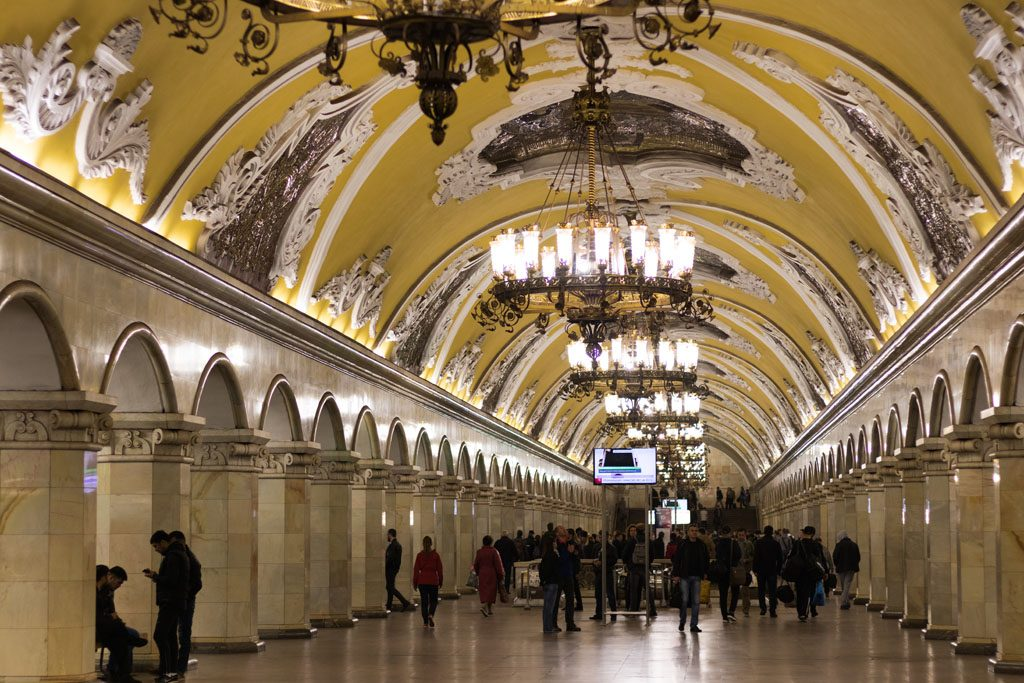 Wohnmobil-Fernweh - Moskau hat prachtvolle Metrostationen.