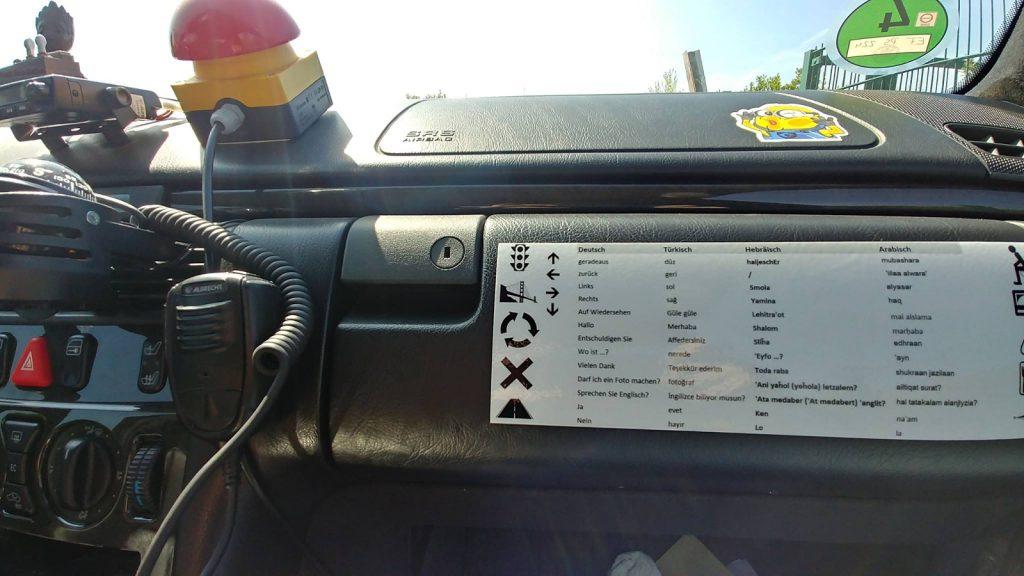 Europa-Orient-Rallye mit Team 51 Matsch&Piste - Kleiner Dolmetscher, funktioniert auch ohne LTE oder WLAN.