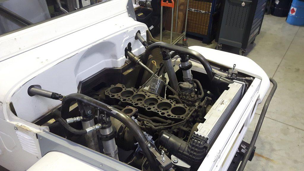 re-Suspension in neuen Räumlichkeiten - Auch der Motor ist von Toyota.