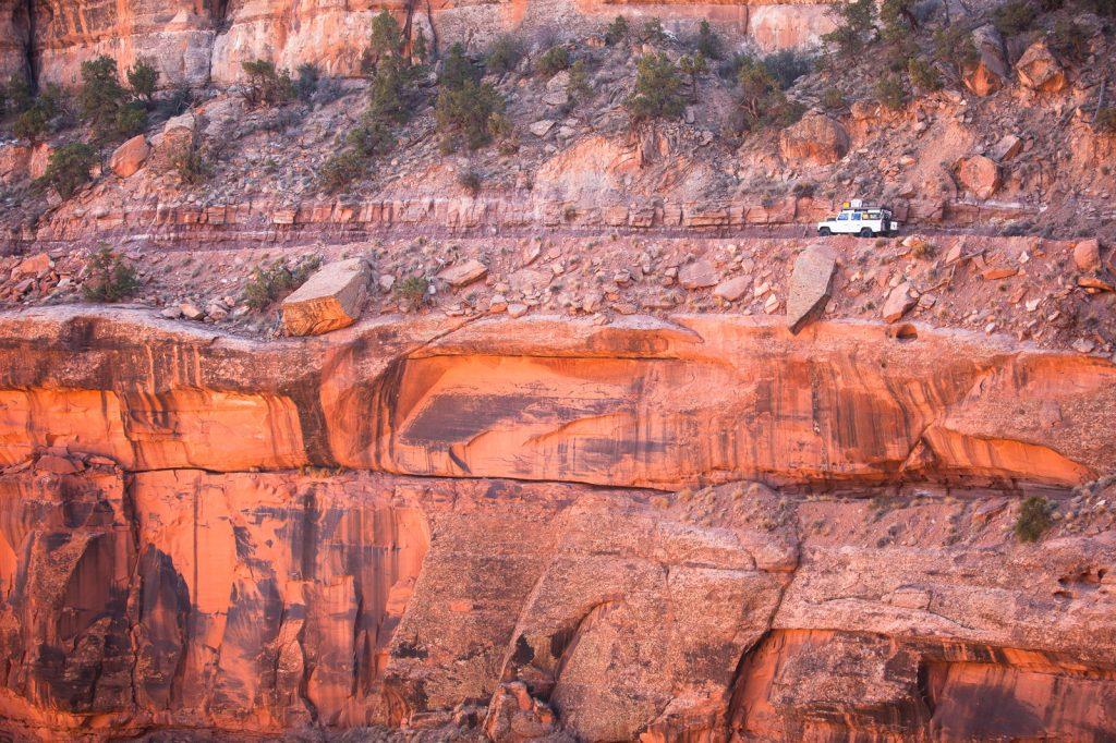 The Sunnyside - White Rim Trail - Nichts für Menschen mit Höhenangst.
