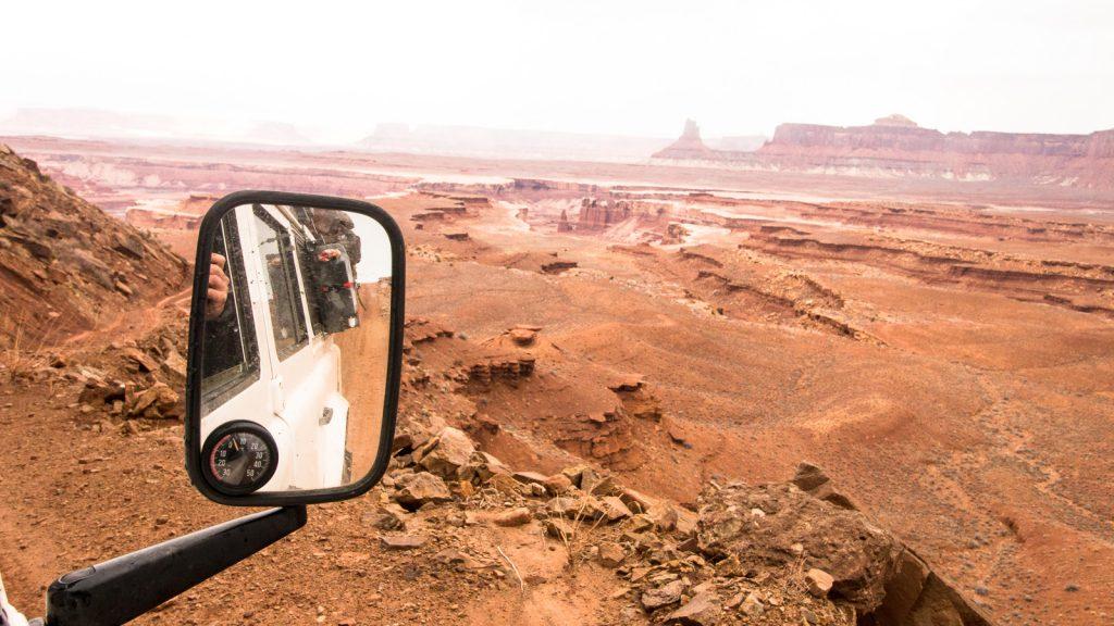 The Sunnyside - White Rim Trail - Blick über die bizarre Landschaft Utahs.