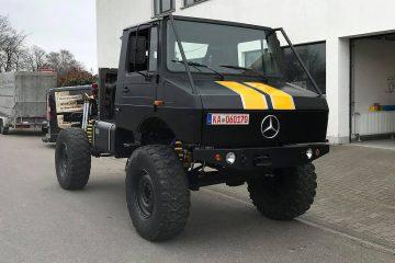 "Rallye Breslau - Mittelmotor-Unimog-Prototyp - Das neue ""Biest"" bei der Rallye Breslau."