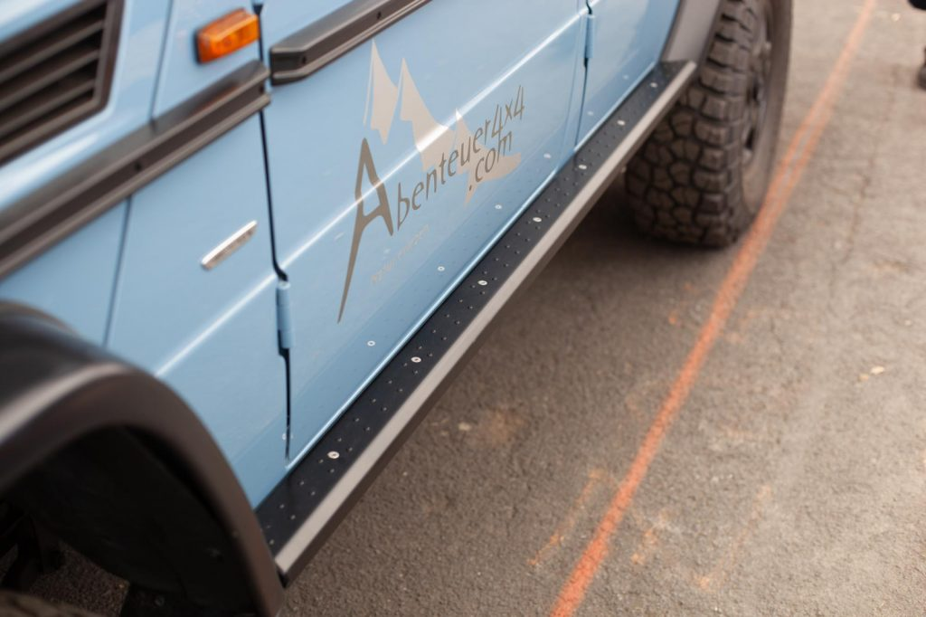 Abenteuer-Allrad-2018 - Abenteuer4x4 - G-Slider mit der Abenteuer4x4-typischen Noppenoberfläche.