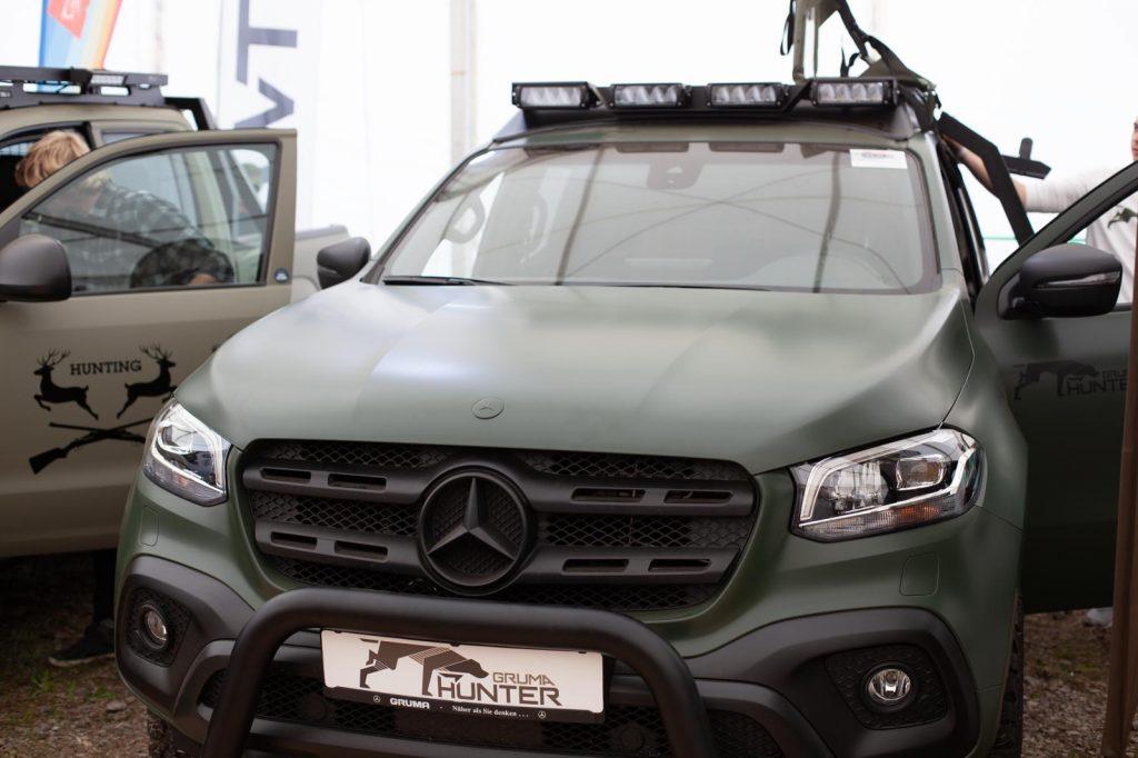 Abenteuer & Allrad 2018 - Gruma Hunter - Mercedes X-Klasse im Jagdrock.