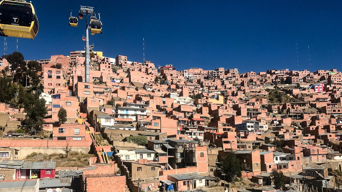 Die Seilbahn (Teleférico) in La Paz