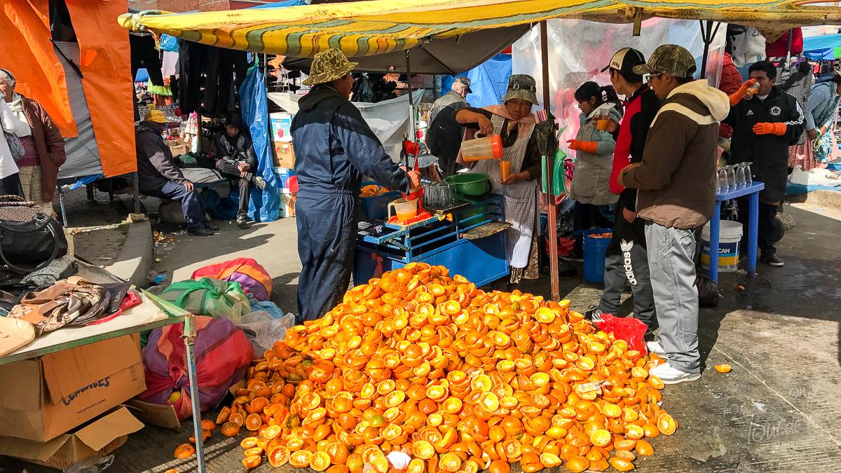 Markt in La Paz, Bolivien