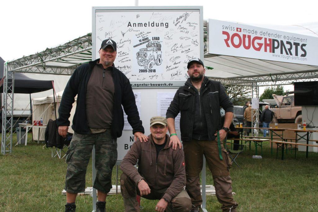 Landyfriends Adventure Days 2018 - Das LFAD-Team: Organisatoren Merten und Hoffy, Forenadmin AWo.