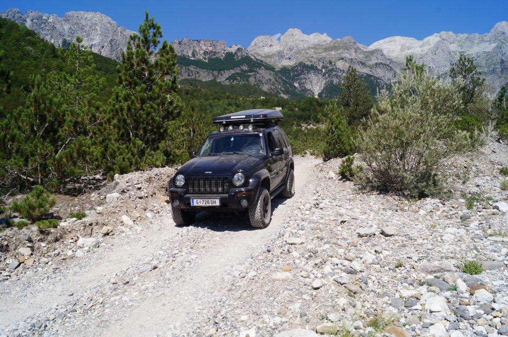 Offroad in Albanien - Die letzten Kilometer Offroad in Albanien.