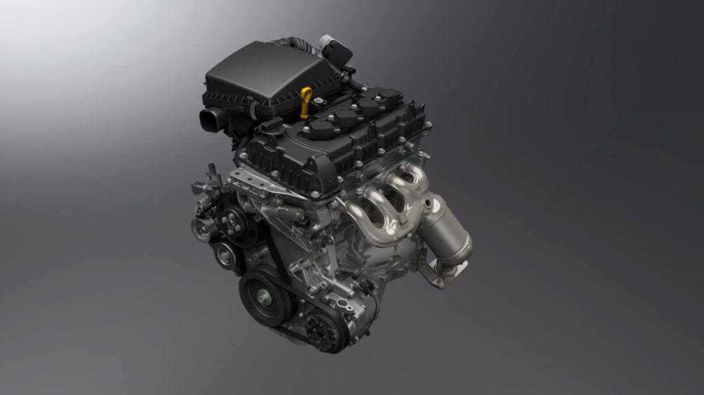 Der 1,5 Liter Benzinmotor des Suzuki Jimny.