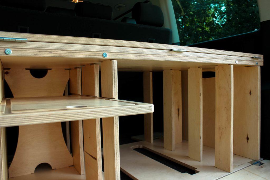 Campingbox BiberBox - Die Teile werden einfach gesteckt.