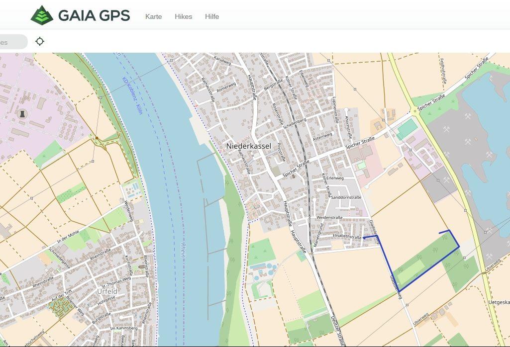 Gaia GPS - ...auf den PC und umgekehrt.