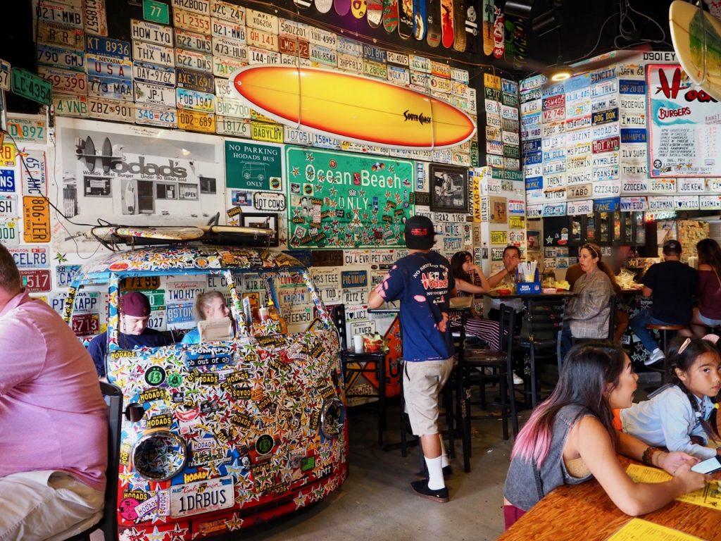 Reisen in Nordamerika - Burgerrestaurant in San Diego, USA.