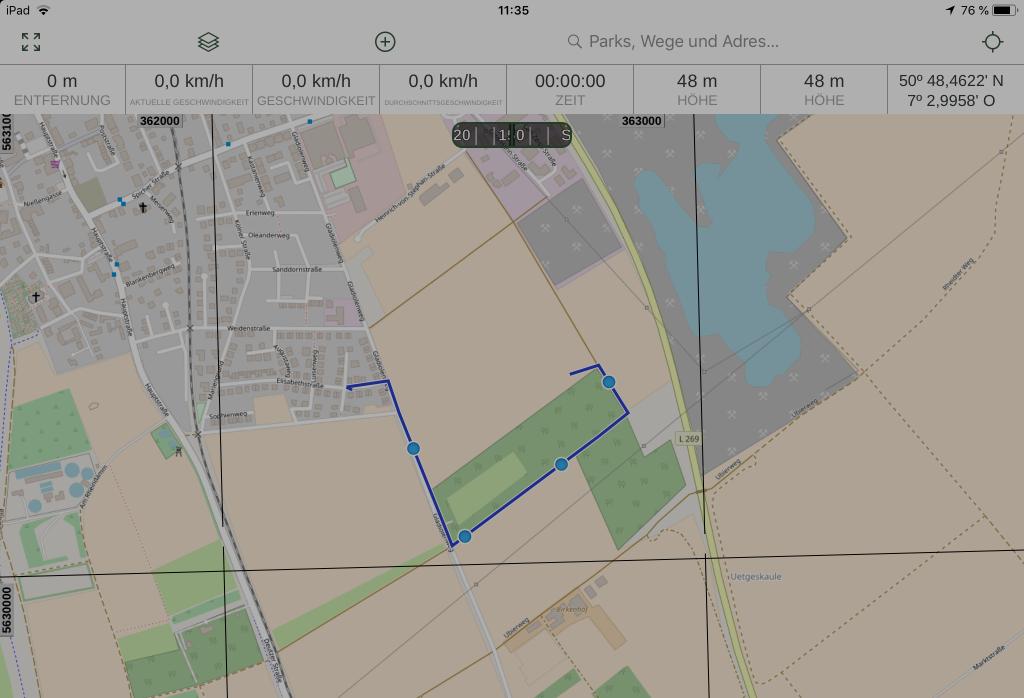 Gaia GPS - Vom Tablet...