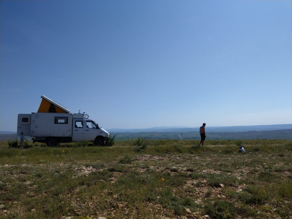 Offroad-Overlanding-Weltreise mit Kindern - In the middle of nowhere zwischen Kappadokien und Dogubeyazit.