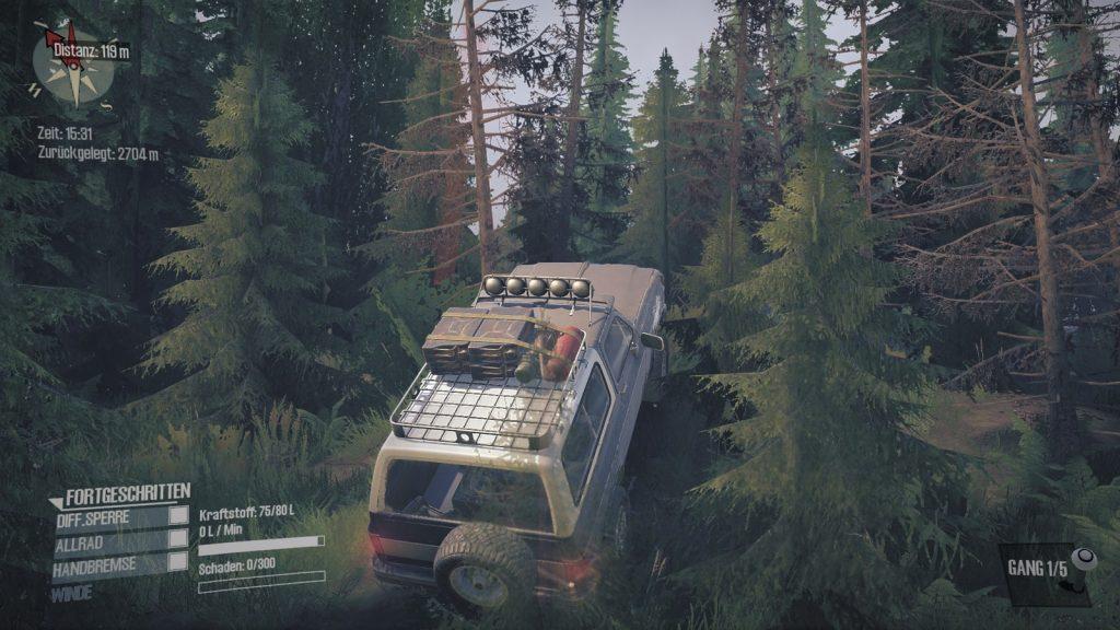 Spintires Mudrunner - American Wilds - Einfach mal mit dem Wagen querfeldein wagen.