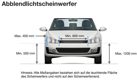 Nolden - Vorschriften bei der Fahrzeugbeleuchtung - Abblendlicht
