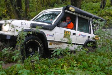 Michael Ortner von 4x4-Experience auf der Mud-Amster-Masuren.