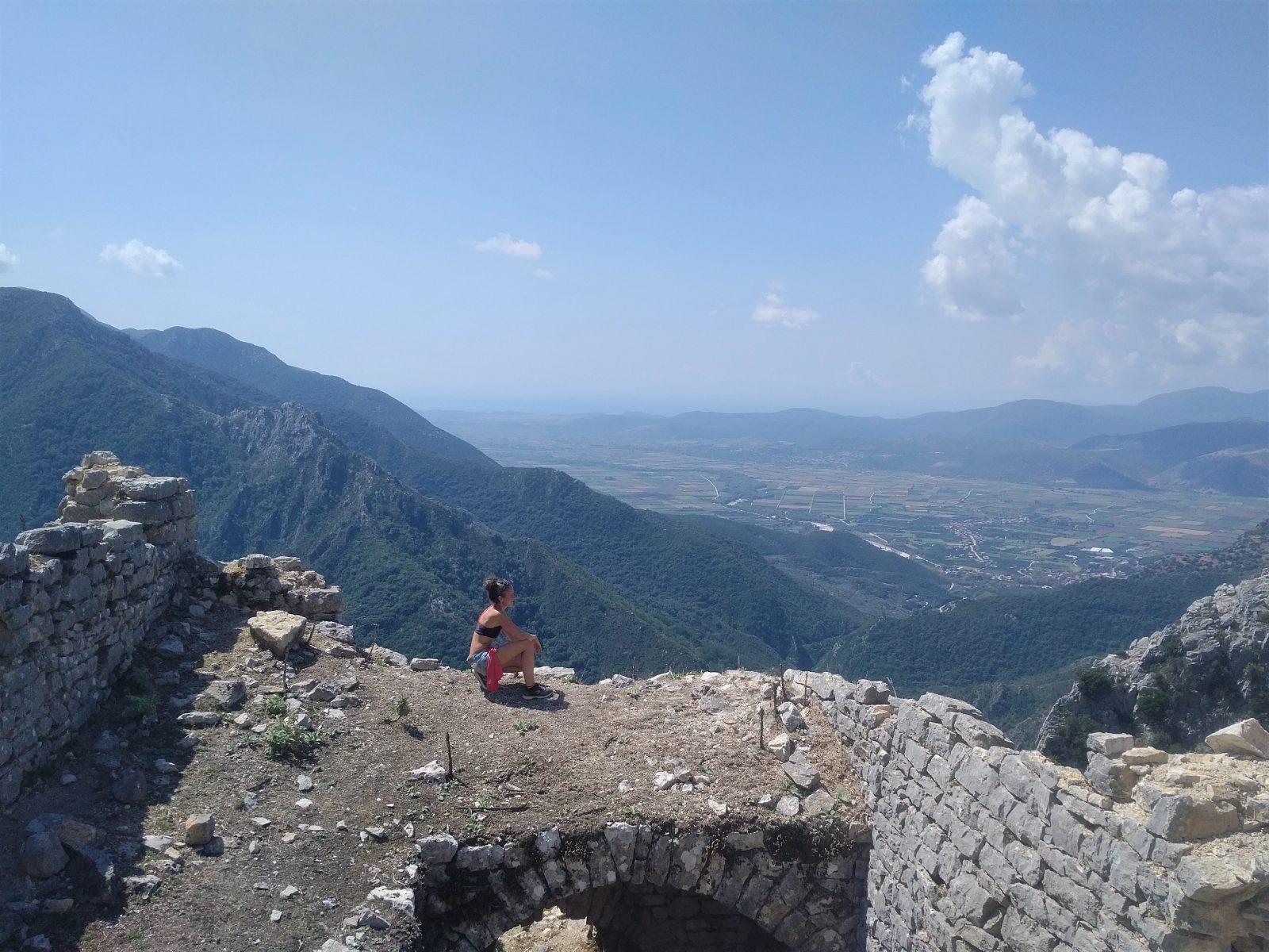 Offroad in Griechenland - Ausblick von der ehemaligen Fluchtburg Kiafa.