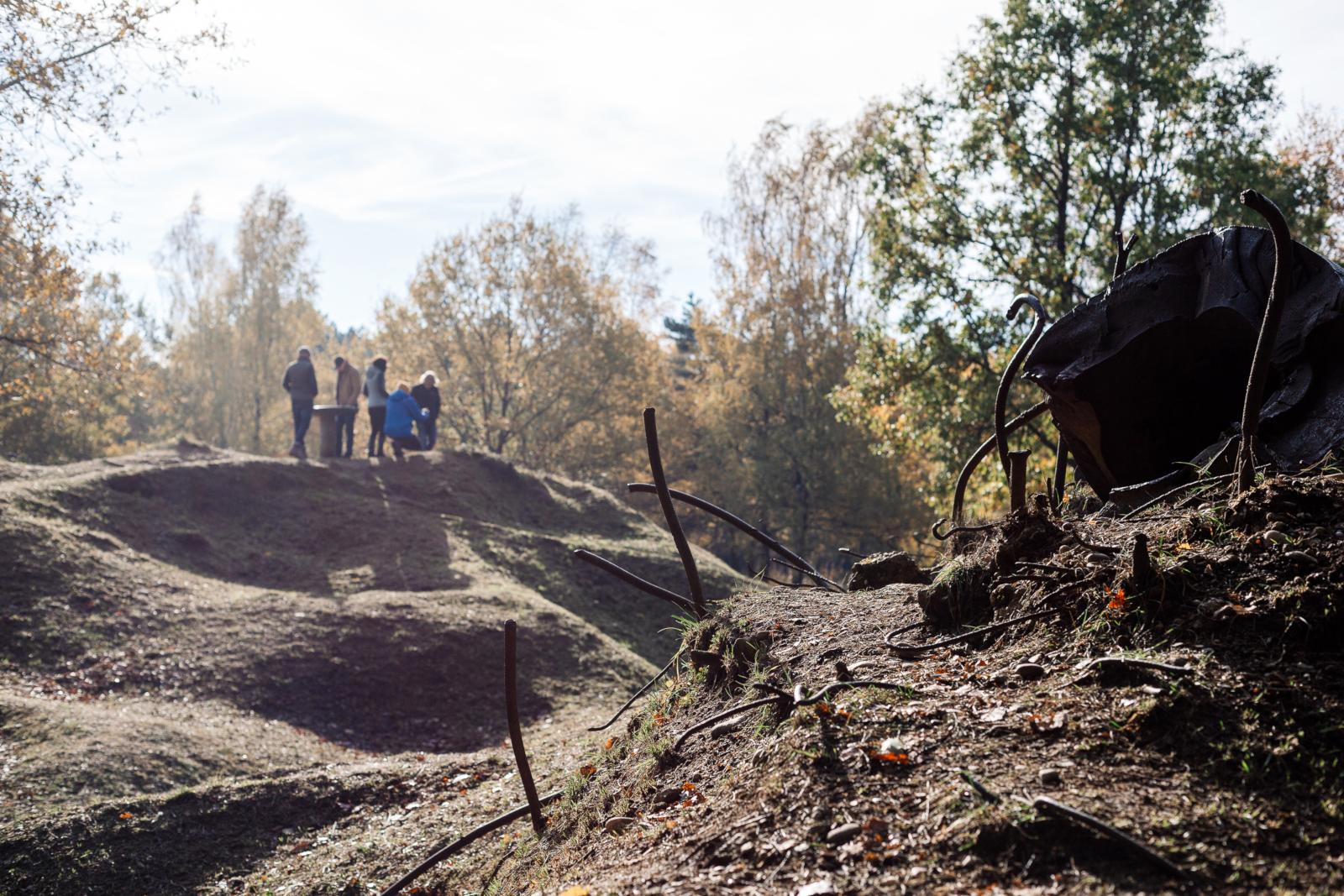 Verdun-Maginot-Tour 2018 - Geschundene Landschaft.