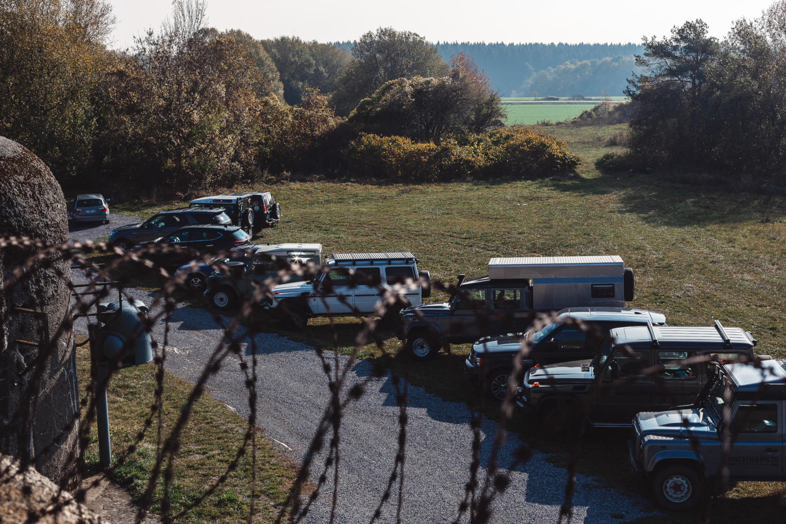 Verdun-Maginot-Tour 2018 - Auf einem der Maginot-Bunker.