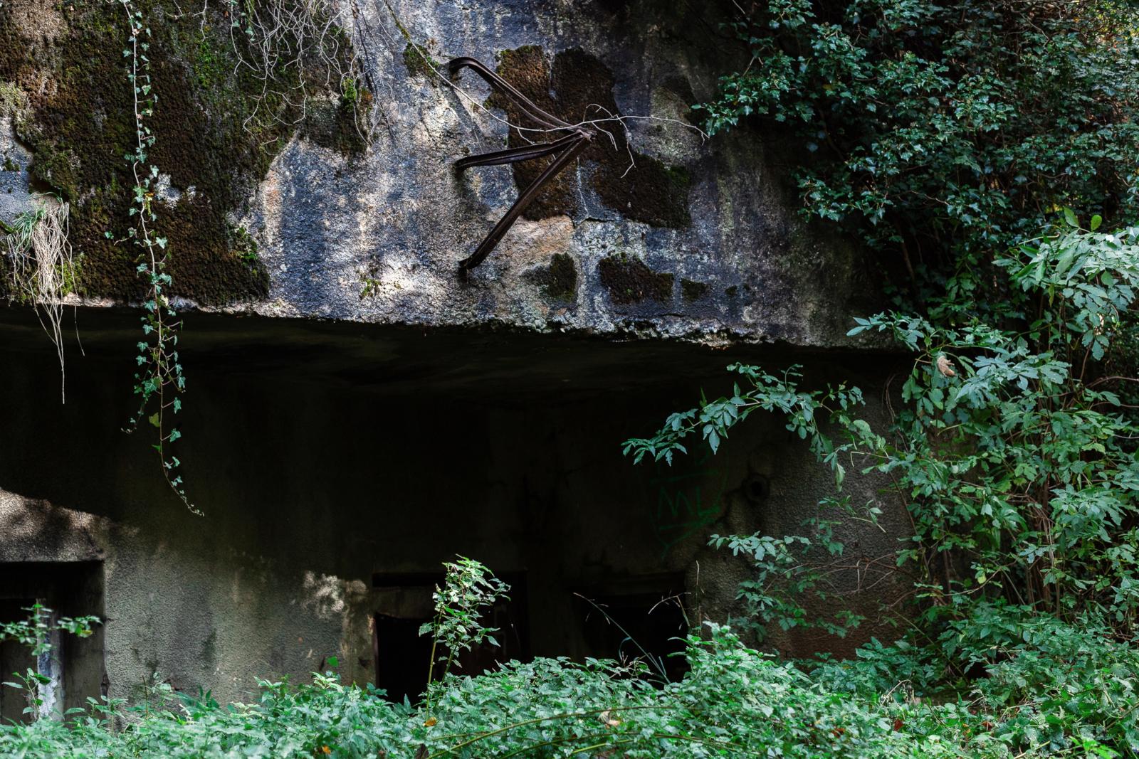 Verdun-Maginot-Tour 2018 - Versteckt im Wald liegen die Zugänge.