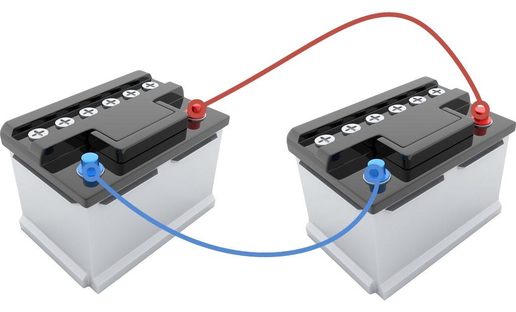 Doppelbatteriesystem - Parallelschaltung von Akkus.