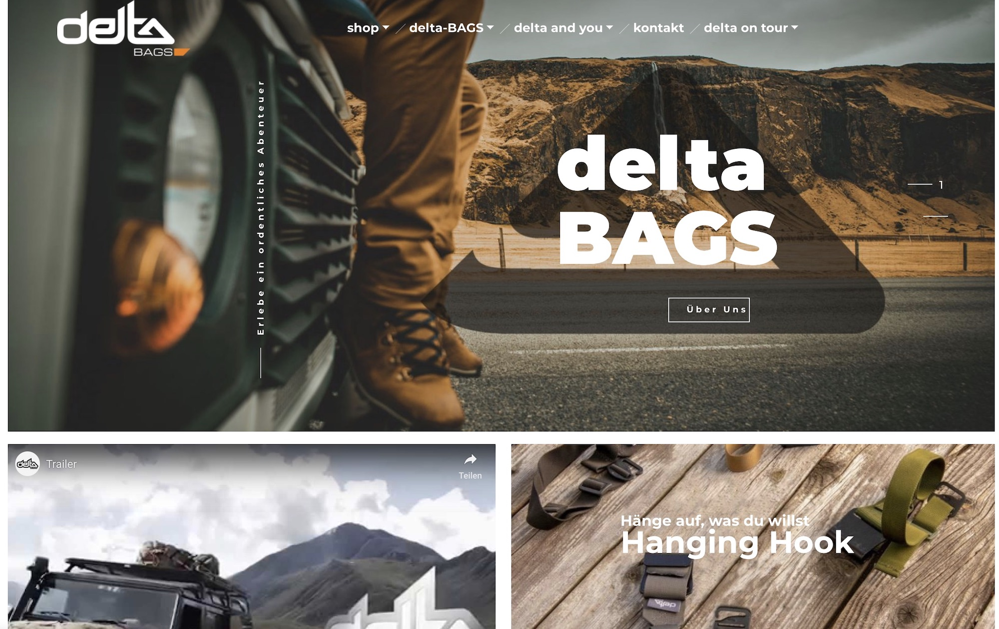 delta-BAGS neuer Online-Shop