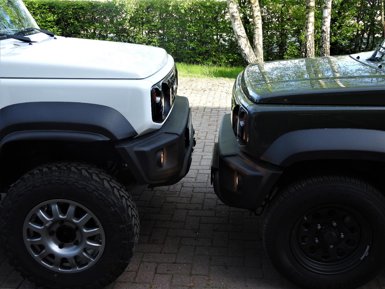 Tibus Portale Suzuki Jimny GJ - 11 Zentimeter mehr Luft unter dem Differenzial.