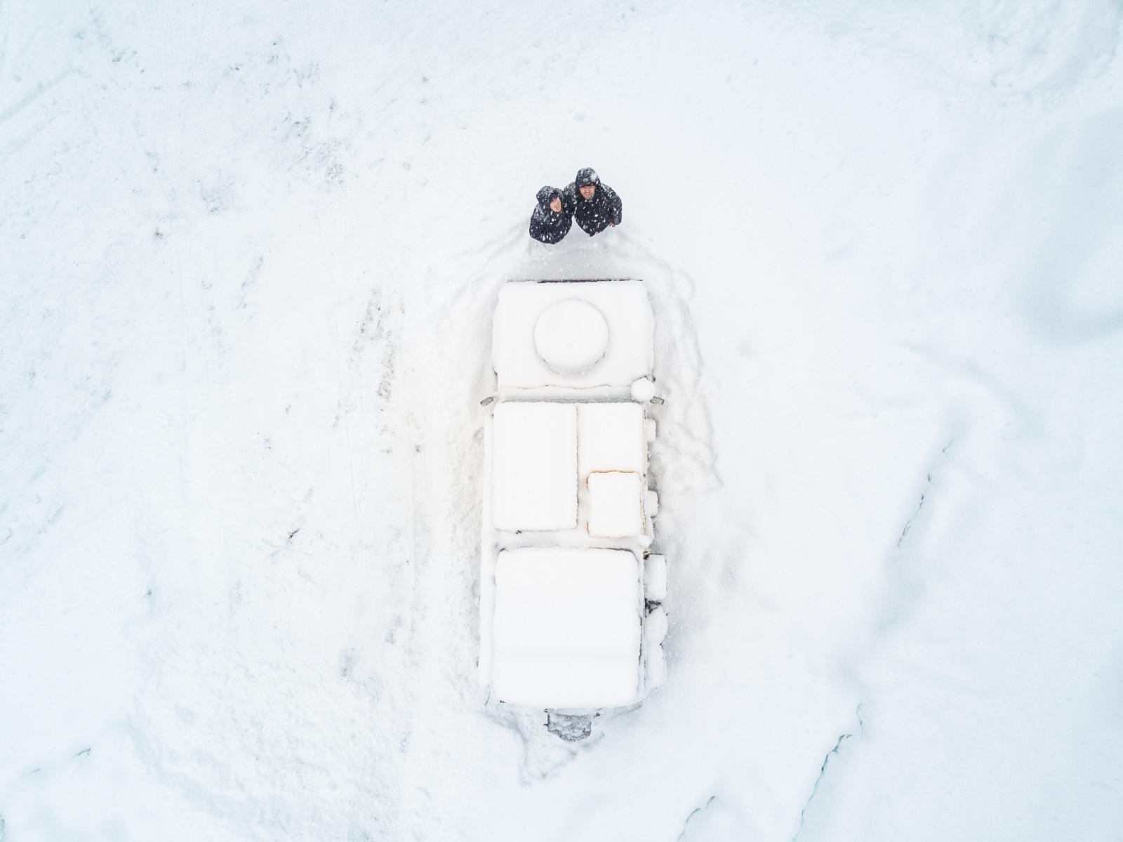 The Sunnyside - Schneespaß, wieder mit Willi.