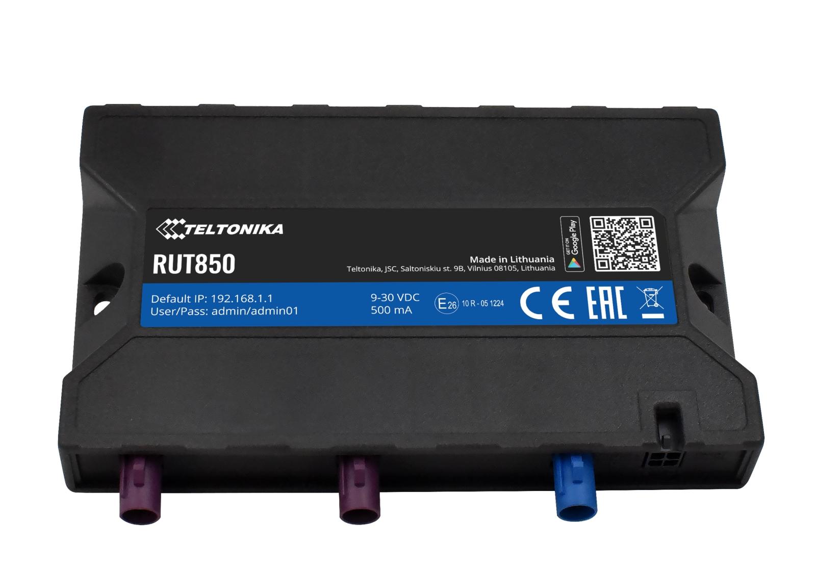 Internet auf Reisen - Der Teltonika RUT850 LTE-Router ohne Ethernet-Ports,