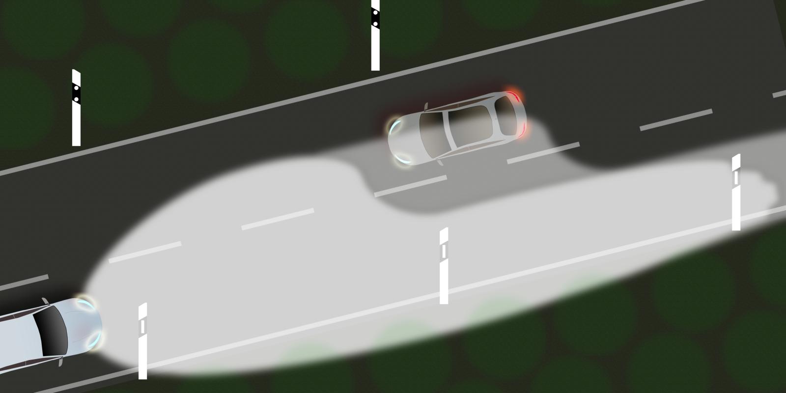 Offroad-Beleuchtung - Der Cut-Off verhindert die Blendung des Gegenverkehrs.