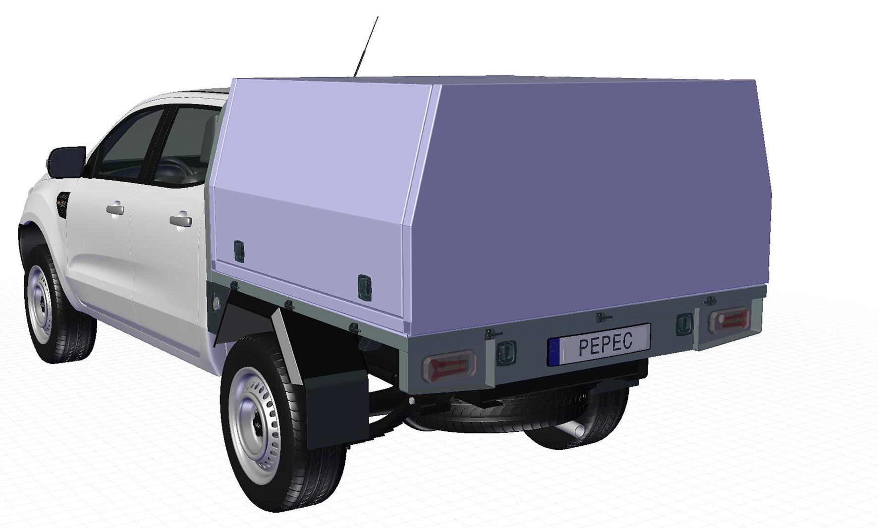 Pepec Ladefläche für Pick-up mit Box