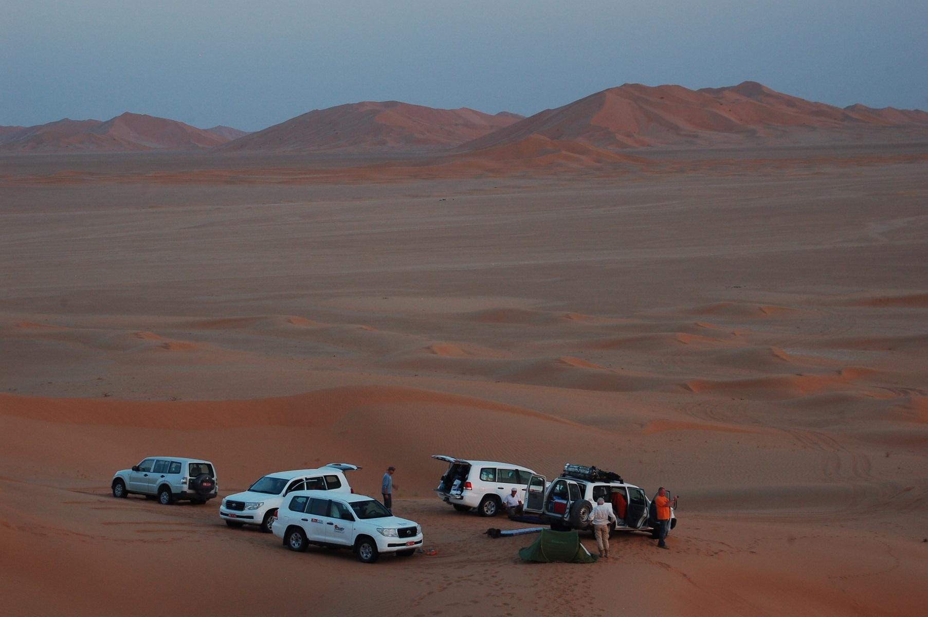 Oman - Nachtlager in den Dünen, für uns ein besonderes Highlight.