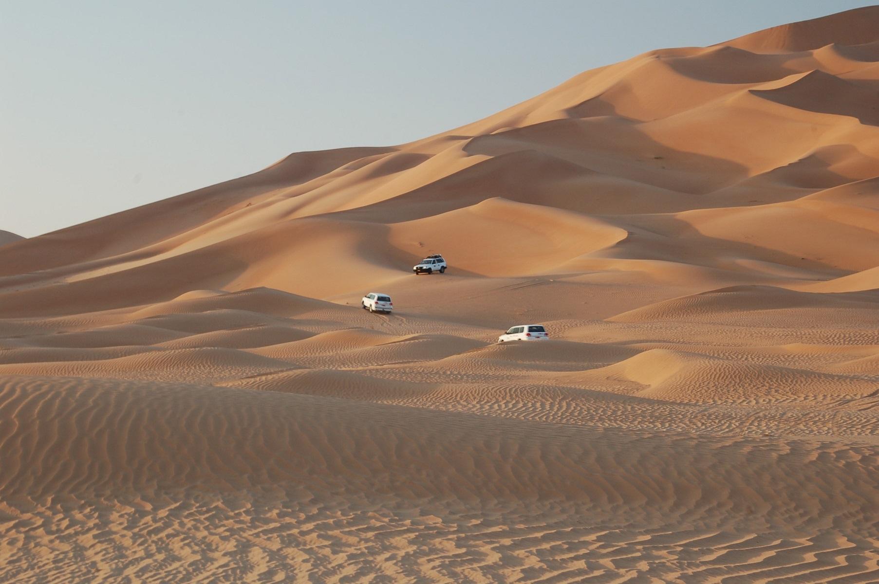 Oman - Die Dünen sind Riesig und das Fahren hier hat einen besonderen Reiz.