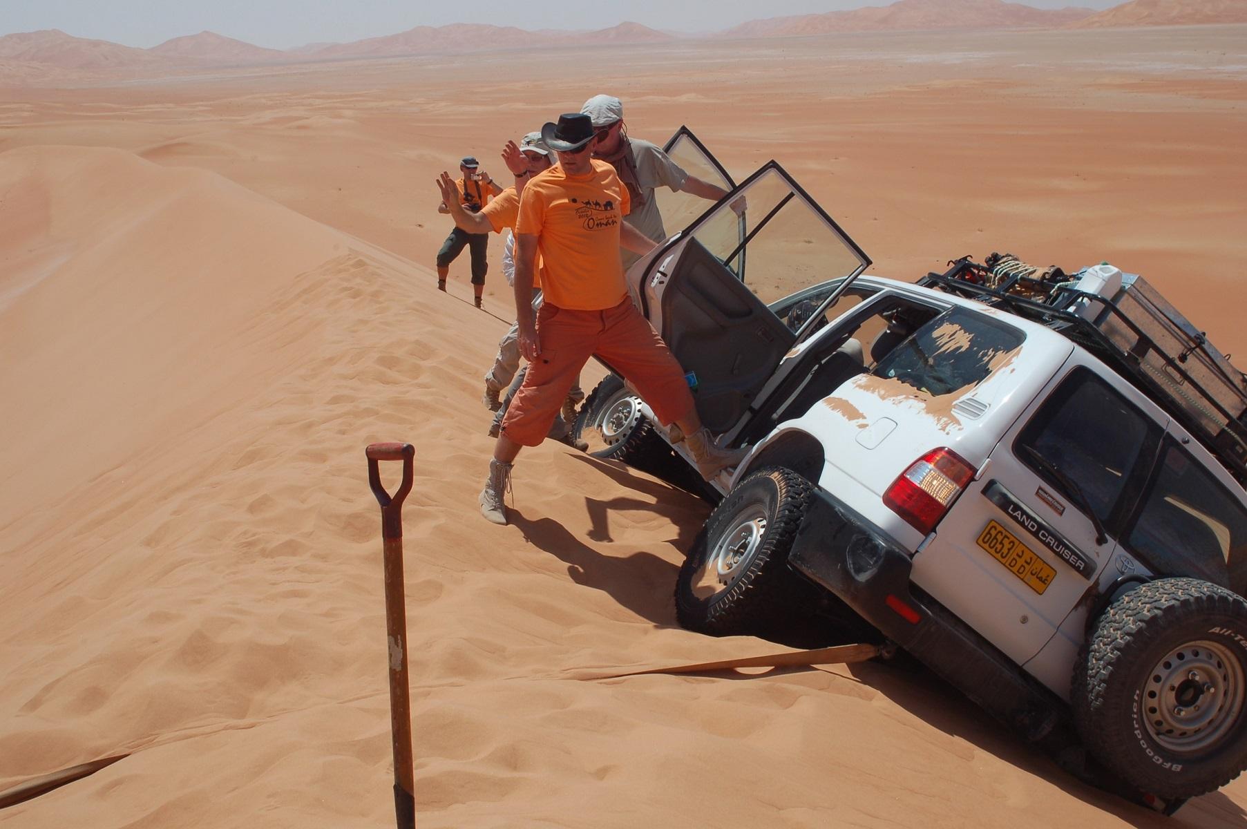Oman - Jurek hatte Glück im Unglück, dieses Mißgeschick hätte böse enden können.