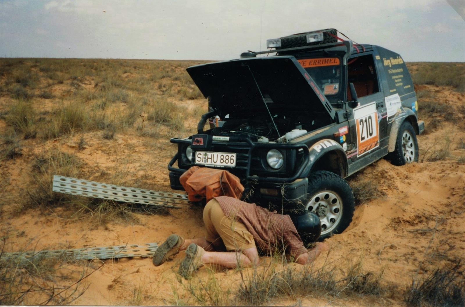 Die Anfänge Mit der Suzie in der tunesischen Wüste.