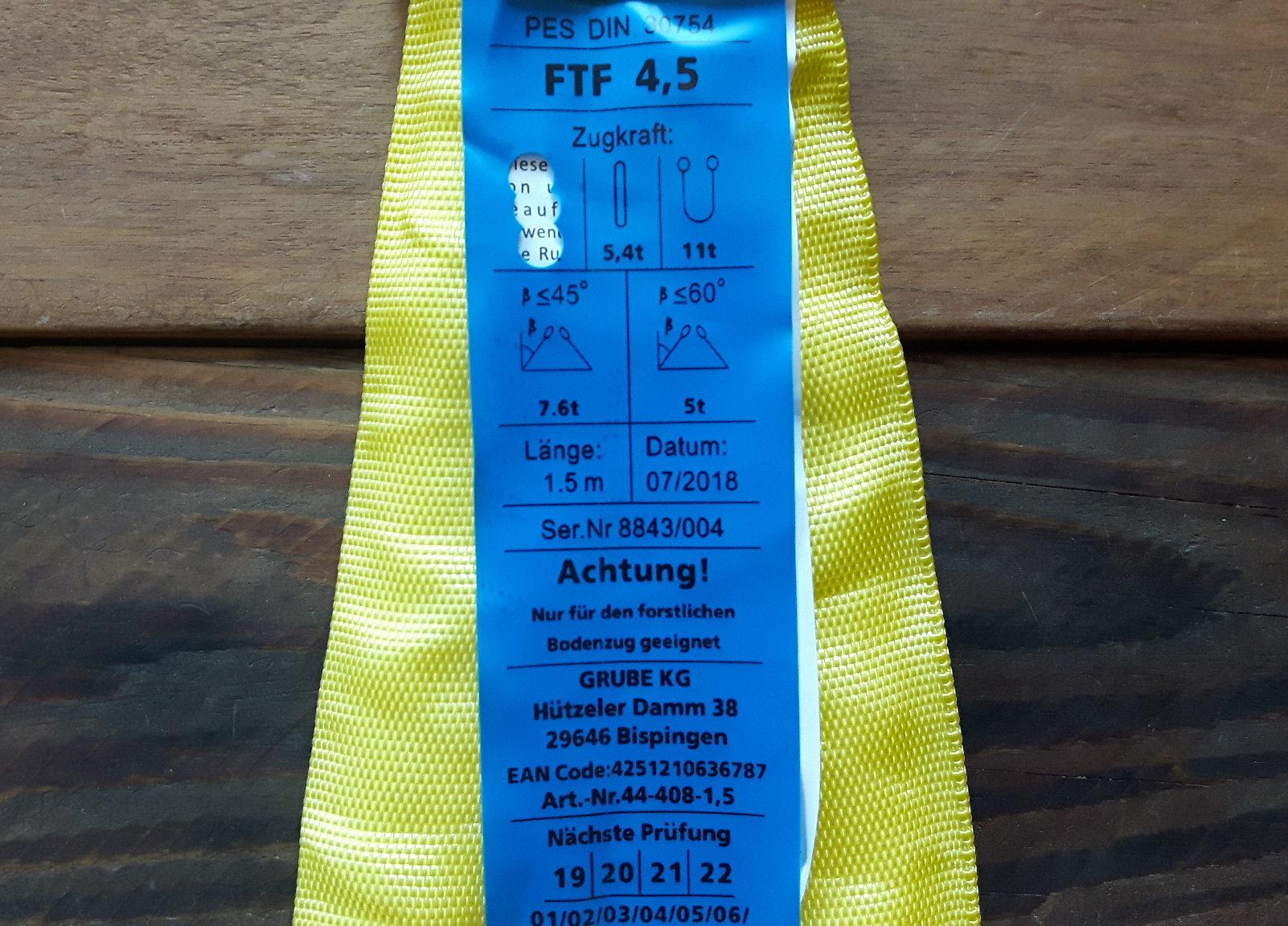 FTF - Ordentliche Kennzeichnung des Zugmaterials.