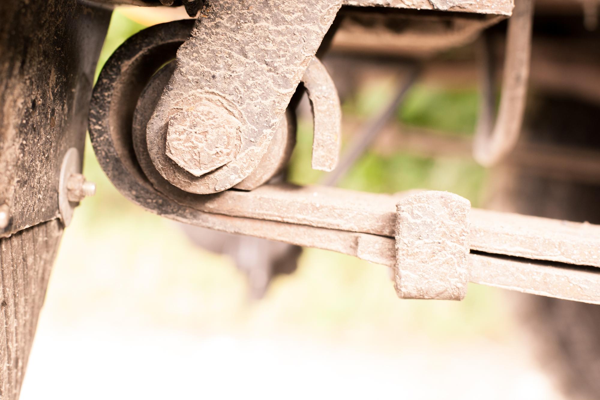 Fahrwerk - Oft ist die zweite Lage noch ganz oder teilweise um das Auge gewickelt.