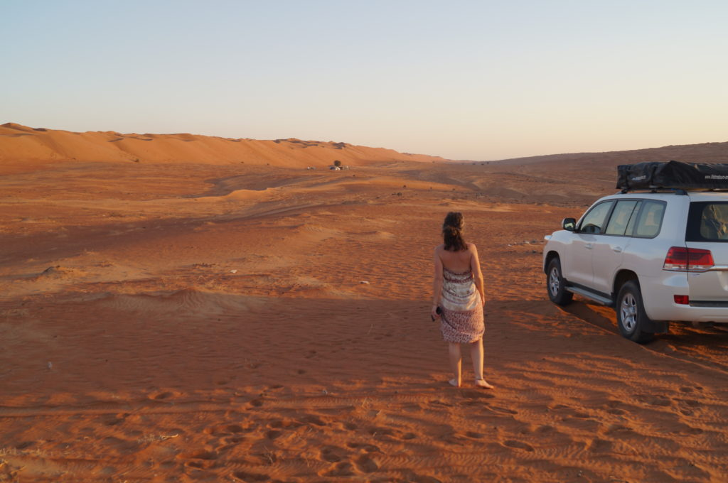 Ein großer Sandkasten sind die Wahiba Sands.