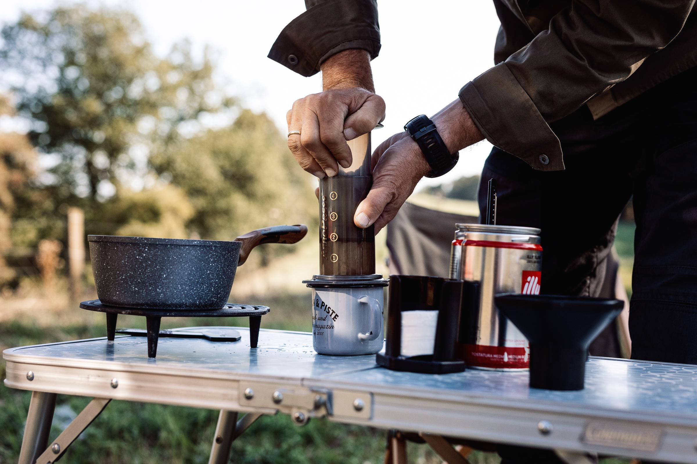 Kaffeekochen unterwegs mit der Aeropress